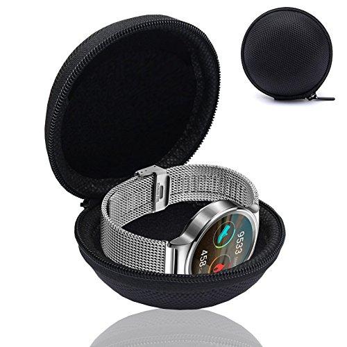 MOELECTRONIX Smartwatch Fitnesstracker Armband Uhr Tasche Schutz Hülle Etui Box Case passend für Evershop 1.5 Smartwatch