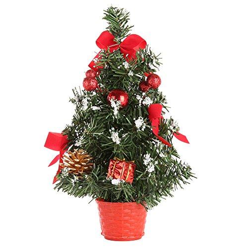 MORESAVE Table de Noël Arbre Salle à Manger Bureau Bureau Petit Arbre de Noël décorations (30cm, Rouge)