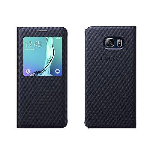 Samsung EF-CG928PBEG S-View Custodia per Galaxy S6 Edge Plus SM-G928F, Nero/Blu