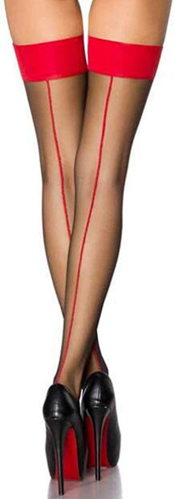 Pour Porte Jarretelles Femme Auto-Fixant Noeud Dentelles Taille Unique FYBOC Bas Voile Couture Dentelle Motif Lacet