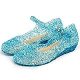 Katara- Zapatos Con Cuña Disfraz Princesa Elsa Frozen Niña, Color azul, EU 31 (Tamaño del fabricante: 33) (ES10)