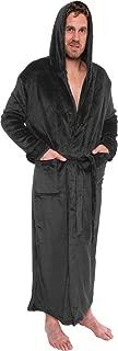 Mens Hooded Long Robe - Full Length Big & Tall Bathrobe