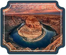 Horseshoe Bend, Arizona Vinyl Die-Cut Sticker (Waterproof Decal for Cars, Water Bottles, Laptops, Coolers), Small