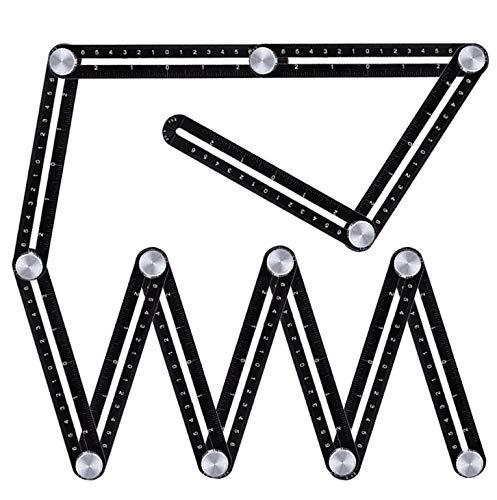 Regla de ángulo Digital Doce regla plegable aleación de aleación de aleación de azulejos de aleación de aleación de agujero universal abridor de abertura plegable multifuncional Para Construcción