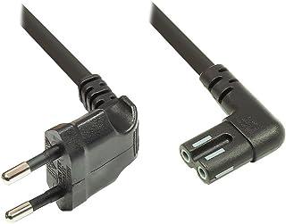 Euro-strömkabel – 5 m för SONOS Play 1 och 5 – strömkontakt (90° vinklad) till Euro 8-uttag (90° vinklad) – för smart TV, ...