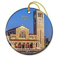 ギリシャボロス教会クリスマスオーナメントセラミックシート旅行お土産ギフト