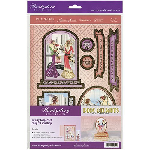 Hunkydory Crafts Deco Delights A4-Shop 'til You Drop' Luxus Topper Set