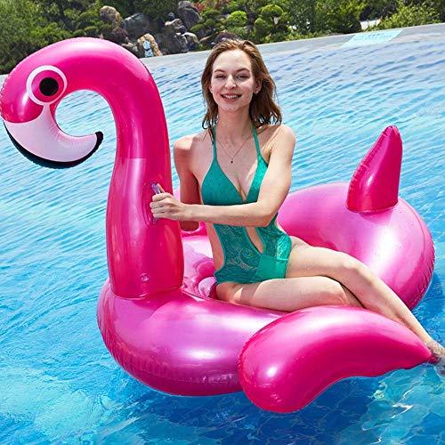 TBS Airbeds Adulto Juguetes inflables Pink Flamingo Monte Flotante Fila Playa Piscina Piscina Agua Cama Flotante Sofá 165 * 125 * 105cm