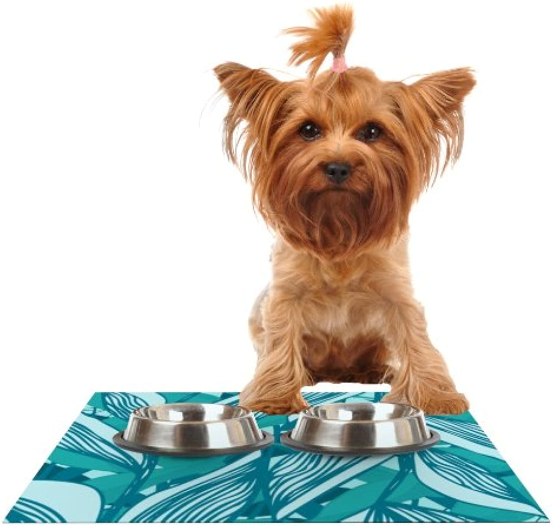 Kess InHouse Anchobee Algae  Feeding Mat for Pet Bowl, 24 by 15