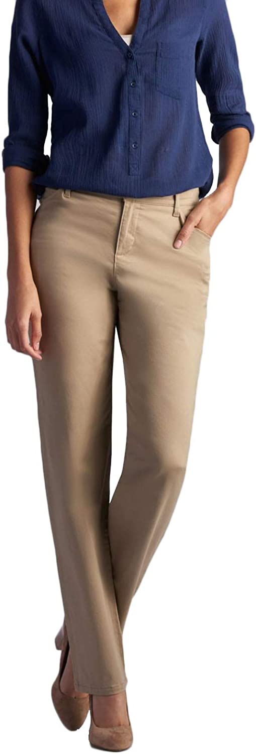 LEE Women's Relaxed Fit All Day Straight Leg Pant at  Women's Clothing store