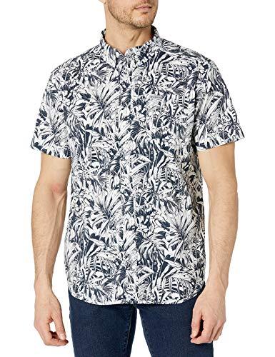 Columbia Camiseta de Manga Corta para Hombre con Estampado de Rapid Rivers, Collegiate Navy Toucanical, Large