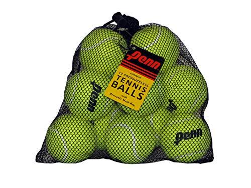 Penn Drucklose Tennisbälle – drucklose Trainings-/Übungsbälle – Netzbeutel mit 12 Stück