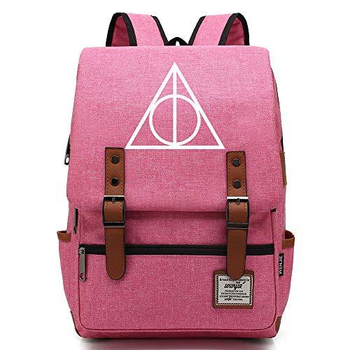 NYLY Adolescente Junior High School Studente zaino backpack bambini Pranzo Borsa Harry Potter leggero impermeabile rucksack Grande Rosa D