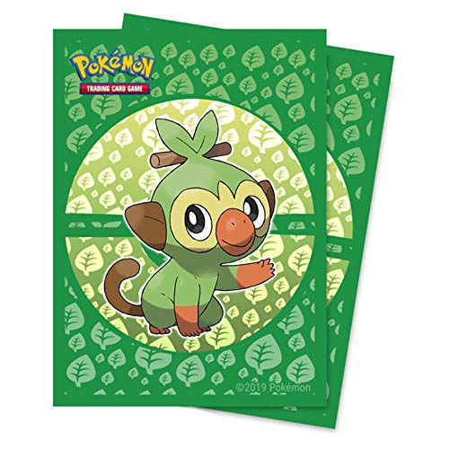 Ultra Pro E-15360 Standard Deck Protector Sleeves-Pokemon Sword & Shield Galar Starters Grookey (65 Pack)