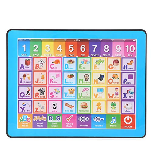 Plyisty Light Weight Tablet Toy, Kids Tablet Toy, Non Toxic Ultra-Thin Durable for Children Baby