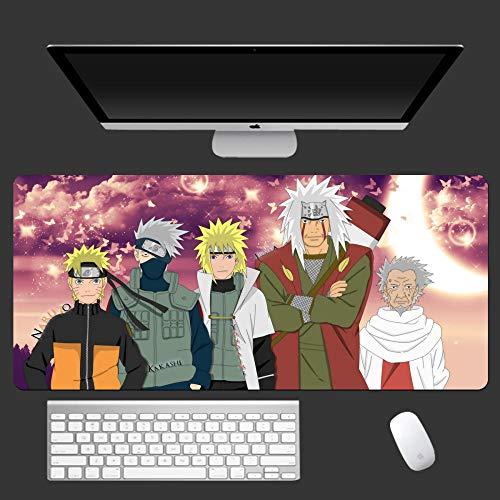 SKGQZD Naruto Anime Mouse Pad 900x400mm HD Modello di Grandi Dimensioni del Computer Mousepad Freddo di Gioco del Fumetto XXL Pad per Mouse -E_900X400