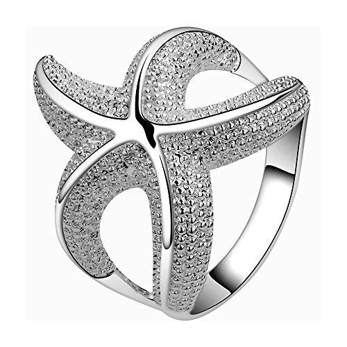LZD Sterling Silver Plated Fashion Ring Women Starfish B368 (7)