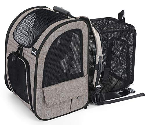 Pecute Pet Carrier Backpack, Dog Carrier Backpack, Expandable with Breathable Mesh for Small Dogs...