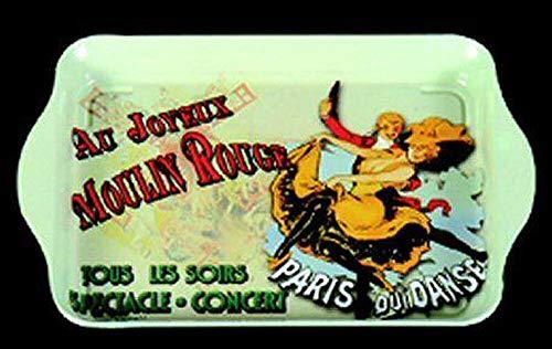Plateaux/Vide poches Plateau Metal 20X33cm AU Joyeux Moulin Rouge Paris France
