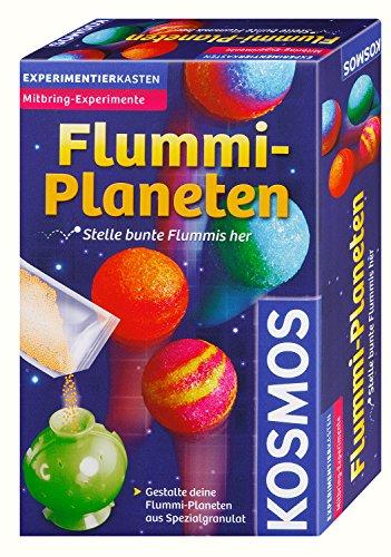 KOSMOS Flummi-Planeten, bunte Flummis selbst herstellen, coole Farbmuster selber mixen, Experimentierset, Experimentierkasten, Mitbringexperiment
