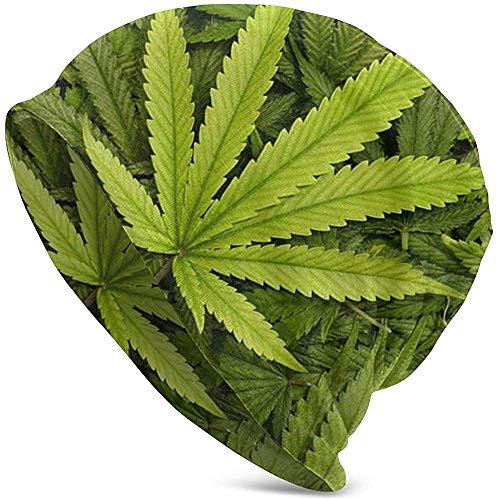 Gorro de Punto Winter Warmer Big Marijuana Leaf Men Lady Cap