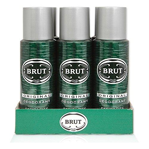 Brut Original–Juego de 6desodorantes en spray de 200ml