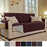 Gorilla Grip Original Slip Resistant Large Sofa Protector for Seat Width up to 70 Inch, Patent Pending Suede-Like Furniture Slipcover, 2 Inch Straps, Couch Slip Cover Throw for Dogs, Sofa, Coffee