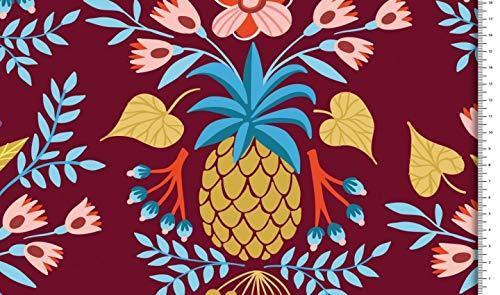 Fabrics-City BUNT Reine Baumwolle Blumenmuster Baumwollstoff Stoff Stoffe, 5173 (Bunt)
