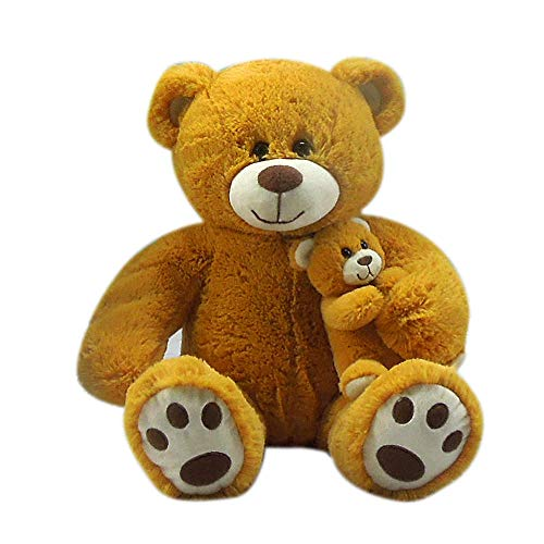 Goffa Jumbo Teddy Bear Plush - Bear mom with Baby, 24'