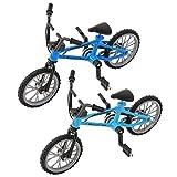 BecauseOf Miniature Finger Bicycle Model Mini Extreme Sport Finger Bike Toy Creative Game Gift (Blue, Randomly)