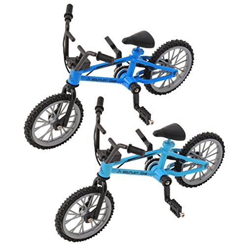 Autone, bicicletta da dita, modello di Mini MTB BMX, bicicletta giocattolo, gioco creativo per bambini, idea regalo, Light Blue, 3.93 * 2.75inch