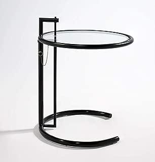 Mason Mid-Century Side Table with Adjustable Height, Black