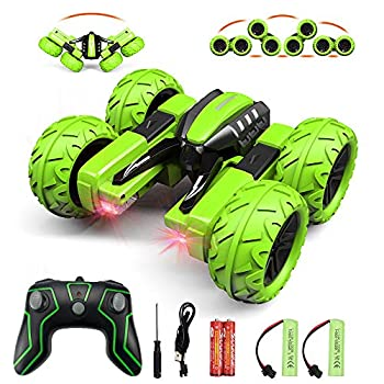 Amicool Remote Control Car Hobby RC Car Stunt Car with LED Lights Electric 4WD 2.4Ghz Double Sided Rotating Racing Vehicle 360° Flips Offroad Kids Toy Cars for Boys Girls 8-12 Up Birthday Xmas Gift