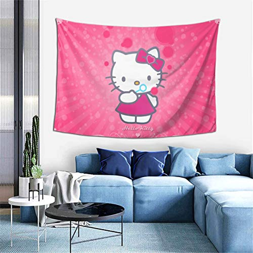 "Return To Dust Hello Kitty Tapestry,Wall Hanging Room Living Tapestrys Home Decorative Bedroom Art Tapestries-60"" X 40"