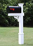 4Ever Products The Nixon Vinyl/PVC Mailbox Post (Includes Mailbox) Complete Decorative Curbside...