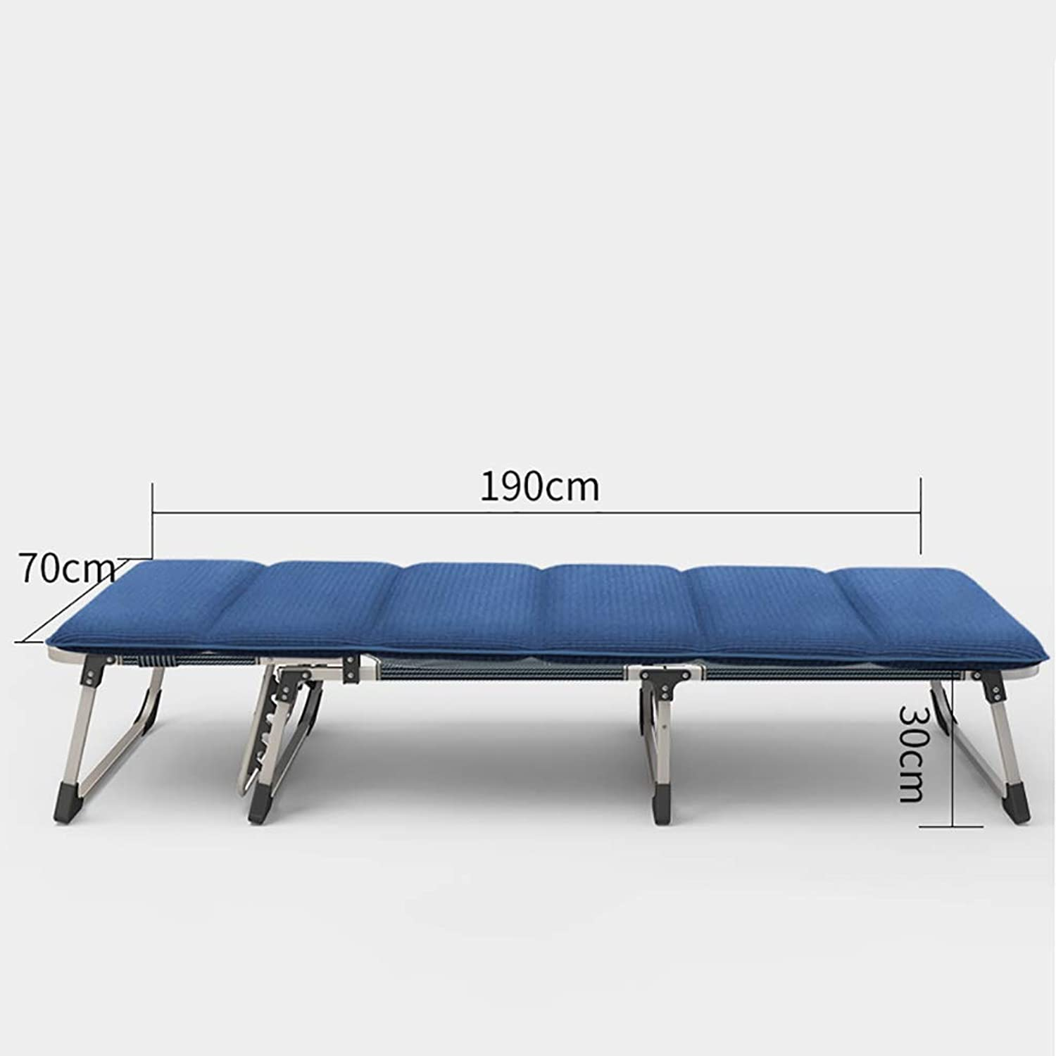 Steel Frame Folding Bed  1680D Oxford Fabric Beach Bed Pool Bed(30  70  190cm) (color   C)