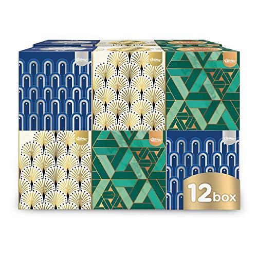 Kleenex Kosmetiktücher-Boxen, für den täglichen Gebrauch, 3-lagig, Collection Würfel, 12 Boxen 56 Tücher