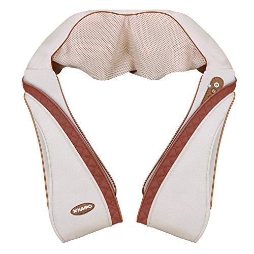 【敬老の日】Naipo 首マッサージャー ネック・ショルダーマッサージ 器 ヒーター付き 首・肩・腰・背中・太もも 肩こり 家庭用&職場用&車用 温熱療法