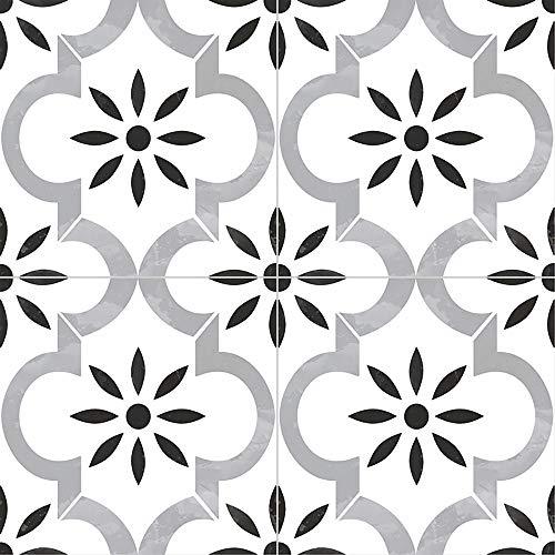 MS International Azila 8 in. x 8 in. Encaustic Matte Porcelain Wall Tile for Bathroom, Floor Tile, Kitchen Backsplash and Countertop Tile