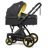 Znesd 2 en 1 plegable de cuatro ruedas del cochecito de alto Paisaje, carro de bebé del cochecito de...