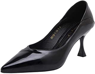 Noir Haut Talon Cour pompe chaussures UK TRAVESTI 8 9 10 11