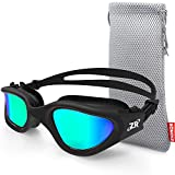Swimming Goggles, ZIONOR G1 Polarized Swim Goggles UV Protection Watertight Anti-fog Adjustable Strap Comfort fit for Unisex Adult Men and Women (Polarized Gold Lens Black Frame)