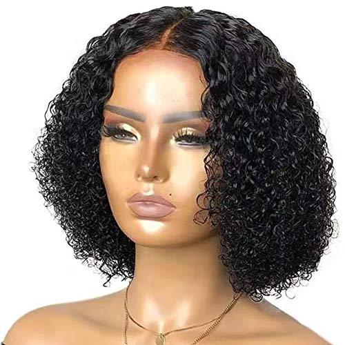 Courtes Perruques Frisées, Brésilien Coiffe Vierge Cheveux Humains Perruques Courtes Perruque Bouclée Perruque Courte Perruque Courte Perruque Naturelle Noire Noire Non