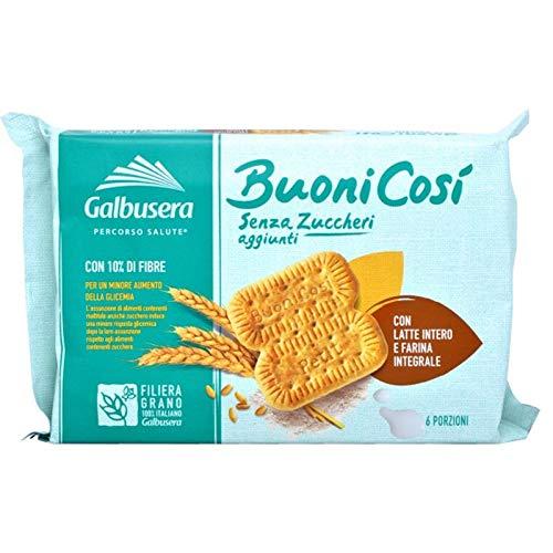 Galbusera Biscotto Buoni Cosi con Latte Intero e Farina Integrale, 300g