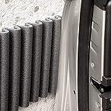 Wall Bumper Leggero Design | Parachoques de garaje para proteger las puertas del automóvil | Juego de 2 tiras adhesivas amortiguadoras, repelentes al agua | Cada ? 17 cm x 1.35 m. Color: negro