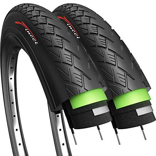 Fincci Paar Road Mountain Hybrid Bike Fahrrad Reifen 700 x 35 c 37-622 mit 2,5 mm Pannenschutz
