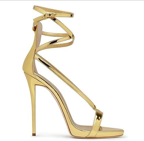 SHINIK Femmes Chaussures Sandales Les Les dames Printemps été Chaussures Sandales Talon Stiletto Bout Rond Pour Fête De Mariage Et Robe De Soirée