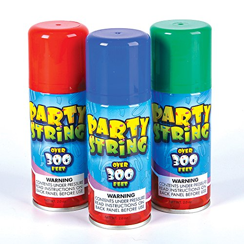SILLY Crazy Party STRING in a can - 3 cans per order