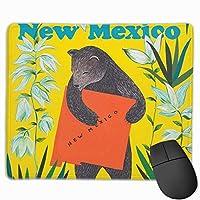 ラブユー 熊柄 メキシコ マウスパッド 運びやすい オフィス 家 最適 おしゃれ 耐久性 滑り止めゴム底付き 快適操作性 30*25*0.3cm
