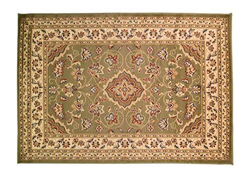 Alfombra tradicional de estilo persa oriental muy grande, color verde, 200 x 290 cm